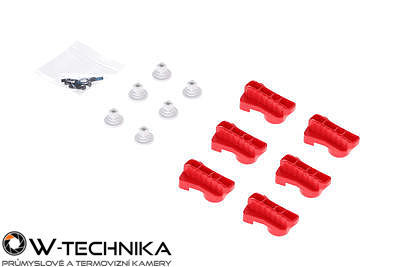 Red Rotatable Clamp Kit pre dron DJI MATRICE 600 - 2