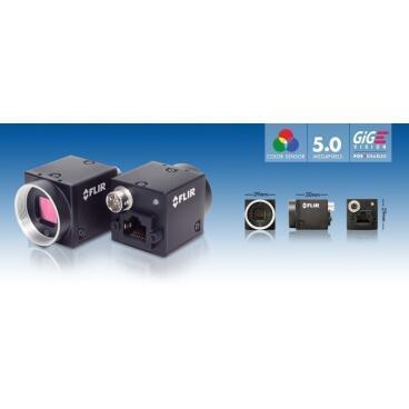 Priemyselná kamera Flir-PointGrey Blackfly 5,0 MP Color/Mono GigE PoE - 2