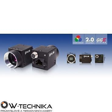 Priemyselná kamera Flir-PointGrey Flea3 2.0 MP Color/Mono GigE Vision - 2