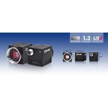 Priemyselná kamera Flir-PointGrey Flea3 0.3 MP Color/Mono GigE Vision - 3